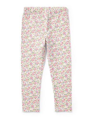 Ralph Lauren Childrenswear Floral Stretch Cotton Leggings-WHITE-4T
