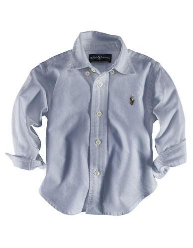 Ralph Lauren Childrenswear Button Down Sport Shirt-BLUE-12 Months