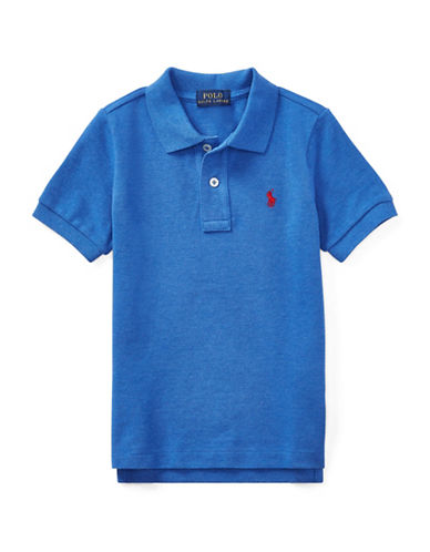Ralph Lauren Childrenswear Cotton Mesh Polo Shirt-BLUE-4T