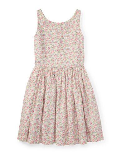 Ralph Lauren Childrenswear Floral Sleeveless Cotton Dress-PINK-7