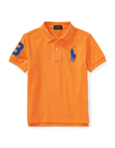 Ralph Lauren Childrenswear Cotton Logo Polo Shirt-ORANGE-2