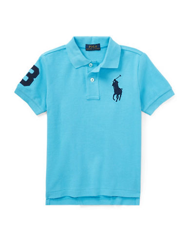 Ralph Lauren Childrenswear Cotton Logo Polo Shirt-TURQUOISE-3