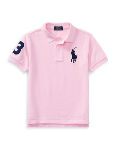 Ralph Lauren Childrenswear Cotton Logo Polo Shirt-PINK-5