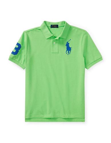 Ralph Lauren Childrenswear Cotton Logo Polo Shirt-GREEN-Small
