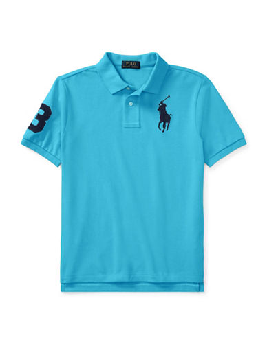 Ralph Lauren Childrenswear Cotton Logo Polo Shirt-TURQUOISE-Medium