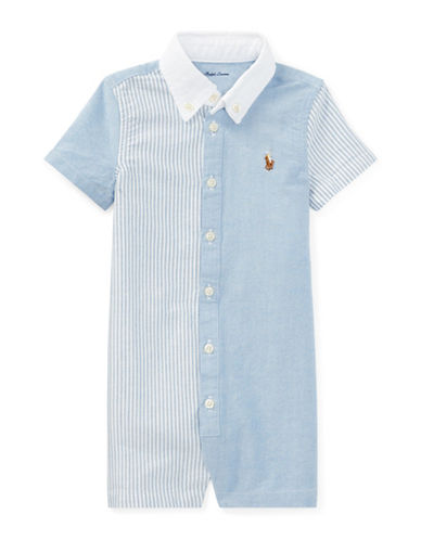 Ralph Lauren Childrenswear Cotton Oxford Fun Shortall-BLUE-24 Months