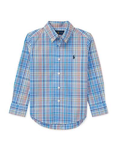 Ralph Lauren Childrenswear Plaid Stretch Cotton Sport Shirt-BLUE-3T