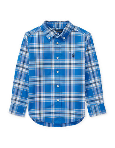 Ralph Lauren Childrenswear Performance Oxford Sport Shirt-BLUE-7