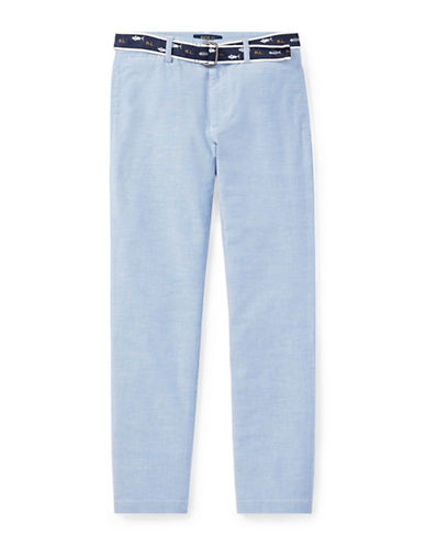 Ralph Lauren Childrenswear Belted Stretch Skinny Pants-BLUE-10