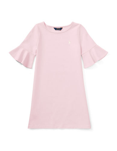 Ralph Lauren Childrenswear Ponte Bell-Sleeve Dress-PINK-Large