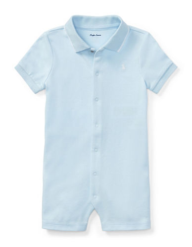 Ralph Lauren Childrenswear Cotton Interlock Polo Shortall-BLUE-18 Months