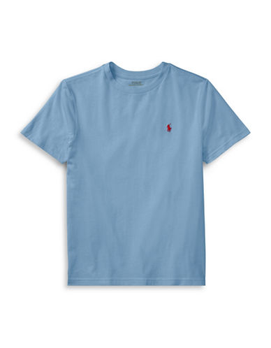 Ralph Lauren Childrenswear Crew Neck Cotton Tee-BLUE-2