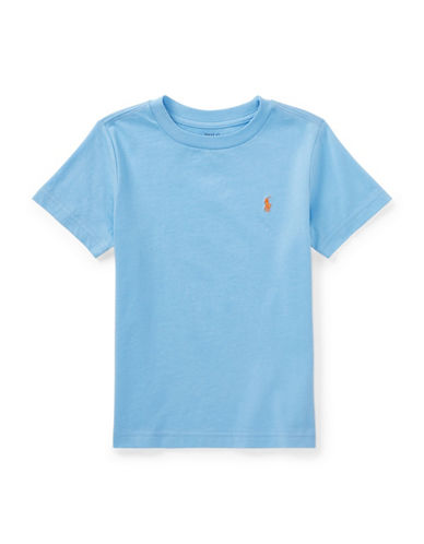 Ralph Lauren Childrenswear Cotton Jersey Crewneck T-Shirt-BLUE-5