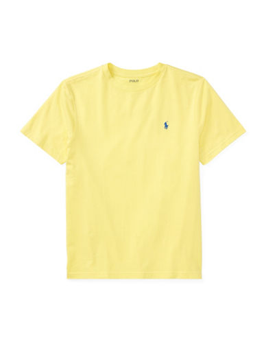 Ralph Lauren Childrenswear Crew Neck Cotton Jersey T-Shirt-YELLOW-X-Large