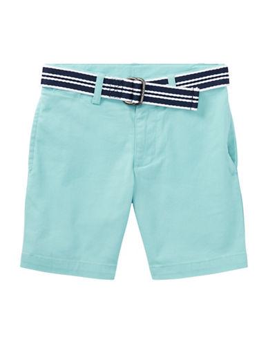 Ralph Lauren Childrenswear Slim Fit Belted Stretch Shorts-BLUE-4T