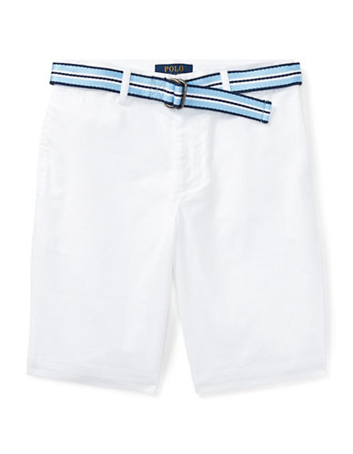 Ralph Lauren Childrenswear Stretch Chino and Belt Set-WHITE-20