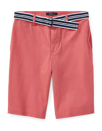 Ralph Lauren Childrenswear Stretch Chino and Belt Set-RED-12
