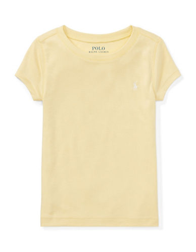 Ralph Lauren Childrenswear Girls Cotton-Blend Crewneck Tee-YELLOW-6X