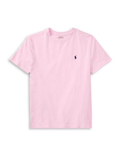 Ralph Lauren Childrenswear Crew Neck Cotton Jersey T-Shirt-PINK-Medium 89775435_PINK_Medium