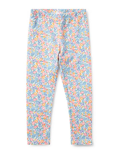 Ralph Lauren Childrenswear Floral-Print Jersey Leggings-WHITE-6X