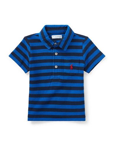 Ralph Lauren Childrenswear Featherweight Cotton Mesh Polo-BLUE/DARK BLUE-24 Months 89923231_BLUE/DARK BLUE_24 Months