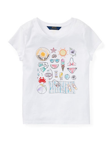 Ralph Lauren Childrenswear Summer Graphic Jersey Tee-WHITE-Large 90029536_WHITE_Large