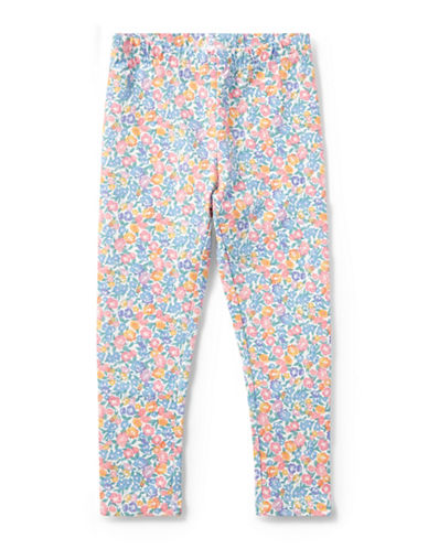 Ralph Lauren Childrenswear Floral-Print Jersey Leggings-WHITE-2T
