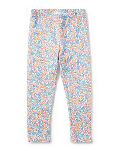 Ralph Lauren Childrenswear Floral-Print Jersey Leggings-WHITE-4T