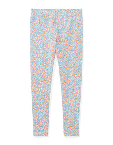Ralph Lauren Childrenswear Floral-Print Jersey Leggings-WHITE-Small