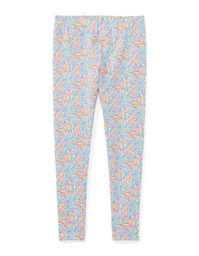 Ralph Lauren Childrenswear Floral-Print Jersey Leggings-WHITE-Large