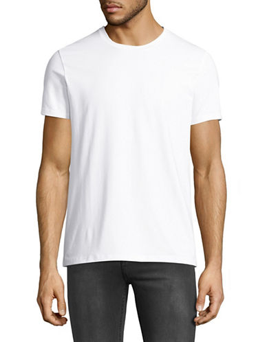 Filippa K Stretch Crew Neck T-Shirt-WHITE-X-Large