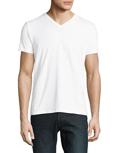 Filippa K Stretch V-Neck Tee-WHITE-Medium