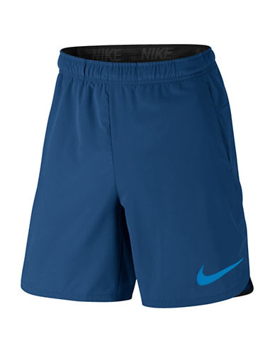 Nike Flex Training Shorts-BLUE-Small