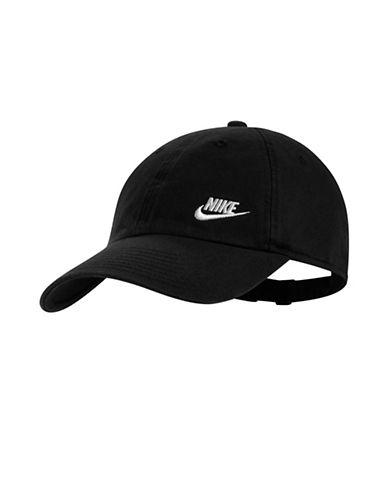 Nike Cotton Baseball Cap-BLACK-One Size