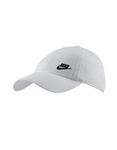 Nike Cotton Baseball Cap-WHITE-One Size