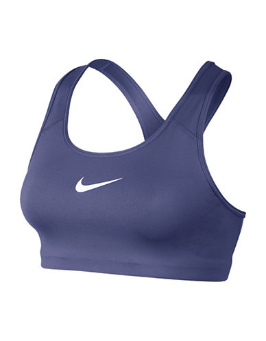 Nike Medium Support Dri-Fit Classic Swoosh Pro Compression Bra-DARK PURPLE-X-Small 88836994_DARK PURPLE_X-Small