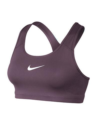 Nike Medium Support Dri-Fit Classic Swoosh Pro Compression Bra-PURPLE-X-Small 88836999_PURPLE_X-Small