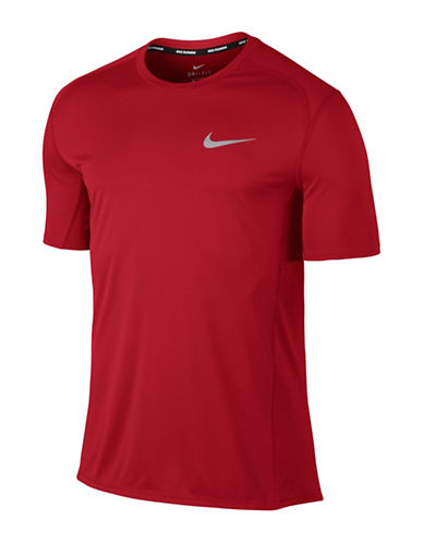 Nike Dry Miler Running Top-RED-Small