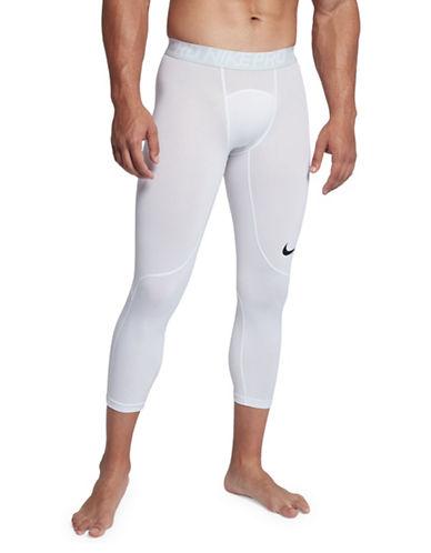 Nike Pro Three-Quarter Tights-WHITE-Medium
