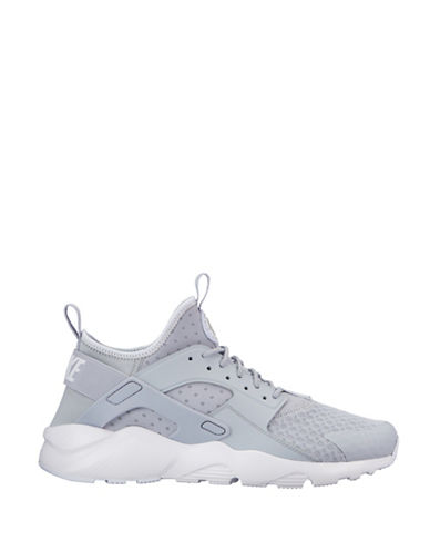 Nike Mens Air Huarache Run Ultra Shoes-GREY-7.5