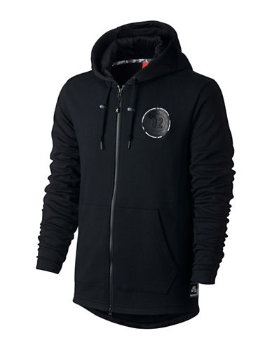 Nike Zip-Up Patch Hoodie-BLACK-Large 88925573_BLACK_Large