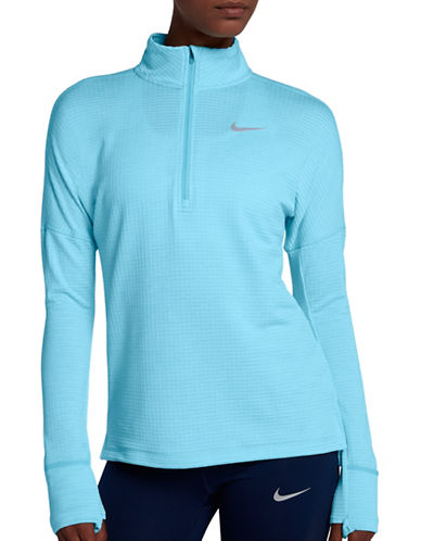 Nike Therma Sphere Element Running Top-BLUE-Medium