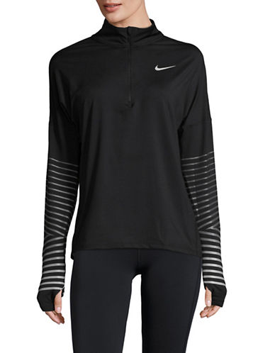 Nike Striped Sleeve Top-BLACK-Large