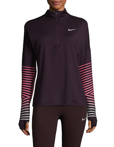 Nike Dry Flash Element Running Top-RED-Large