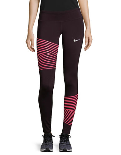 Nike Flash Epic Running Tights-RED-Medium