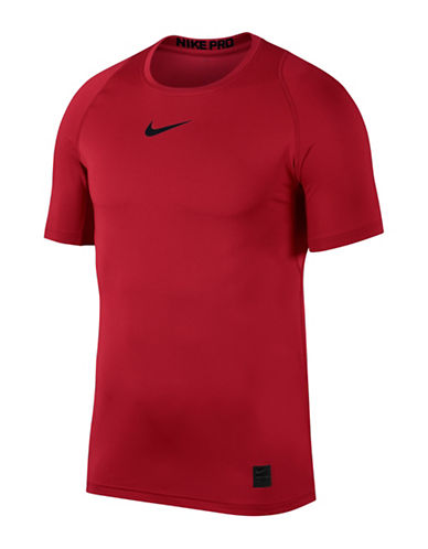 Nike Pro Fitted Short-Sleeve Tee-RED/BLACK-XX-Large