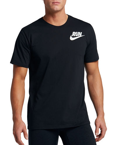 Nike Dry Running Tee-BLACK-Large