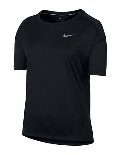 Nike Dry Miler Running Tee-BLACK-Small