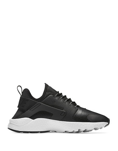 Nike Air Huarache Leather Sneakers-BLACK-6.5
