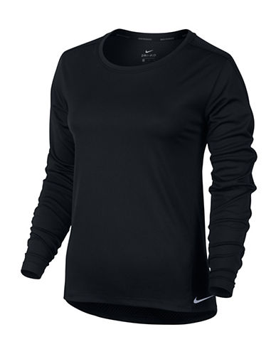 Nike Dry Running Top-BLACK-Medium